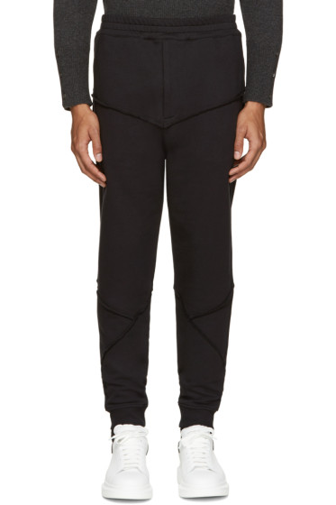 Alexander McQueen - Black Raw Edge Lounge Pants