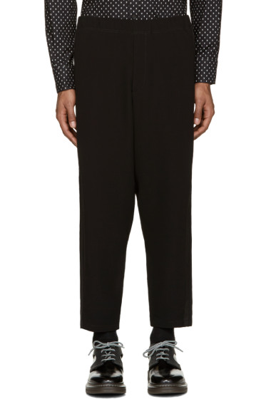 Alexander McQueen - Black Cropped Trousers