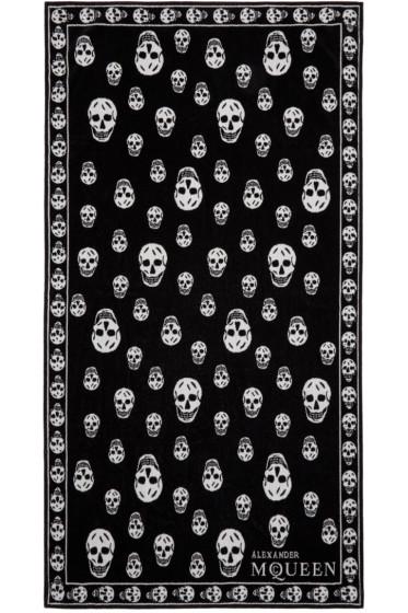 Alexander McQueen - Black & White Skull Towel