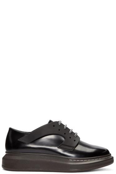 Alexander McQueen - Black Leather XL Derbys