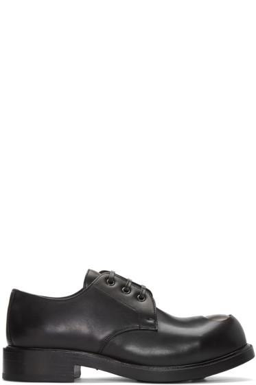Alexander McQueen - Black Steel Toe Derbys