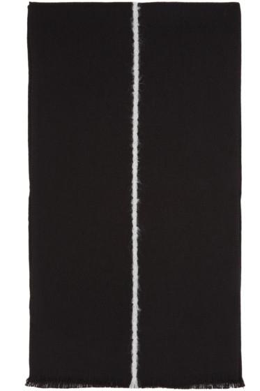 Paul Smith - Black Single Stripe Scarf