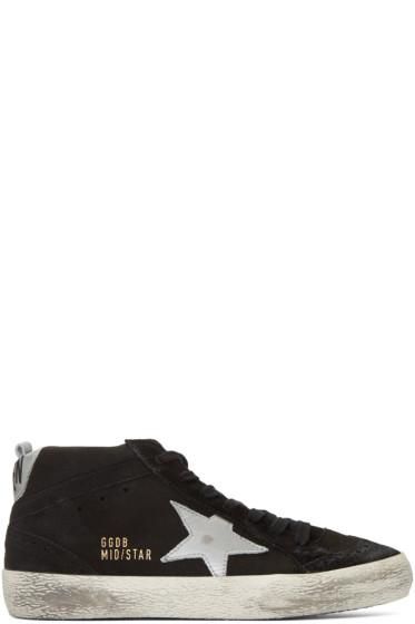 Golden Goose - Black Suede Midstar Mid-Top Sneakers
