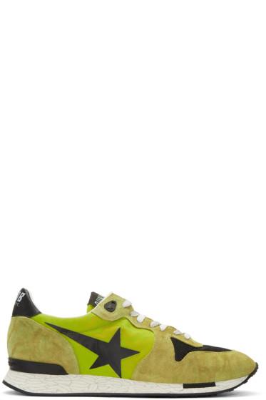Golden Goose - Green Running Sneakers