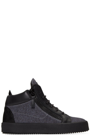 Giuseppe Zanotti - Grey London High-Top Sneakers