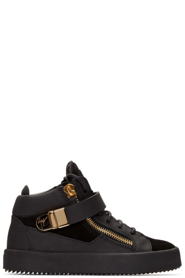 Giuseppe Zanotti - Black London Mid-Top Sneakers