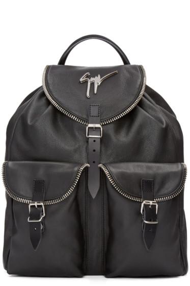 Giuseppe Zanotti - Black Leather Boris Backpack