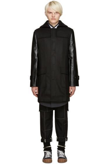 Comme des Garçons Shirt - Black Contrast Sleeve Coat