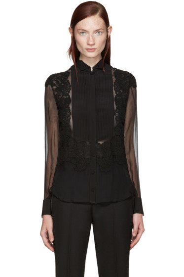 Givenchy - Black Silk Shirt