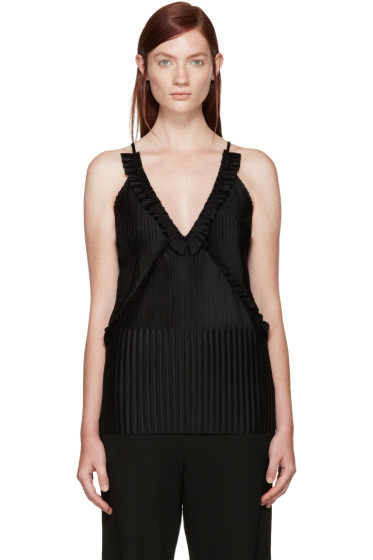 Givenchy - Black Pleated Tank Top