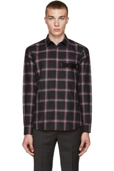 Givenchy - Black Plaid Shirt