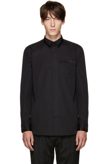 Givenchy - Black Satin Trimmed Shirt