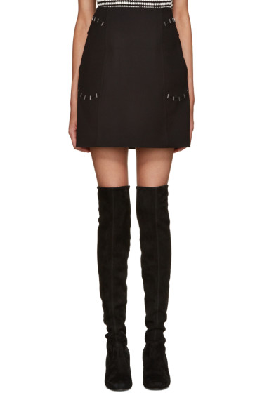 3.1 Phillip Lim - Black Staple Pocket Miniskirt