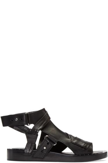 3.1 Phillip Lim - Black Nagano Winter Sandals