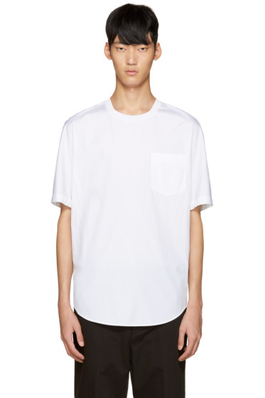 3.1 Phillip Lim - White Poplin T-Shirt