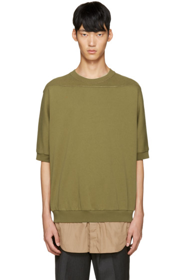 3.1 Phillip Lim - Green Shirt-Tail Pullover