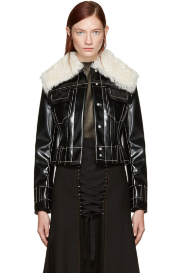 Proenza Schouler - Black Coated Jacket