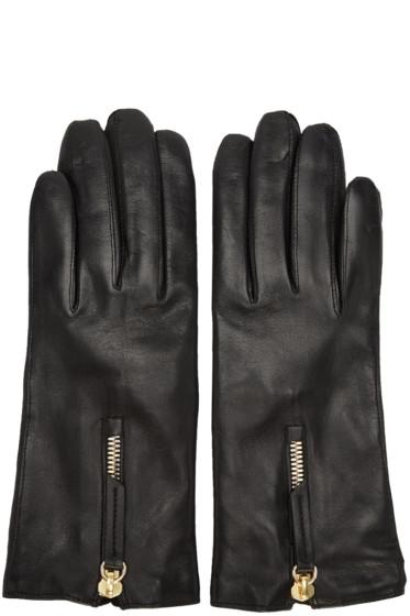 Want Les Essentiels - Black Leather Mozart Gloves