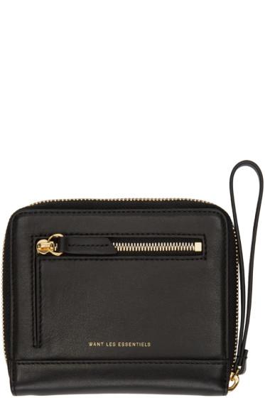 Want Les Essentiels - Black Portela Zip Wallet