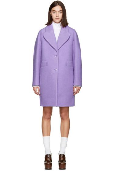 Carven - Purple Long Wool Coat