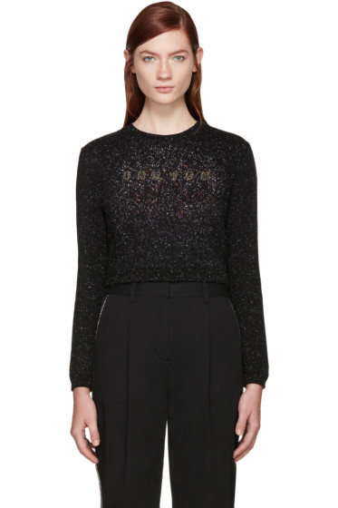 Carven - Black Speckled Logo Sweatshirt