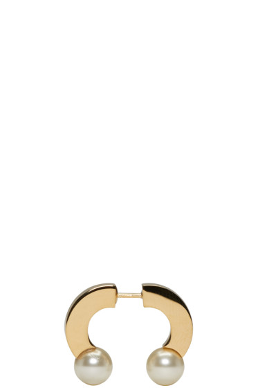 Chloé - Gold Pearl Darcey Single Earring