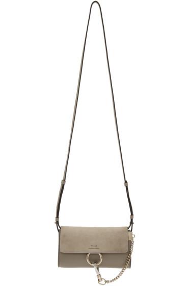 Chloé - Grey Faye Chain Wallet Bag