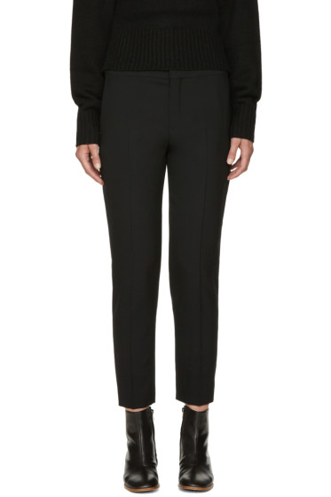 Chloé - Black Stretch-Wool Trousers