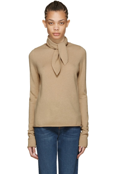 Chloé - Brown Neck Tie Sweater