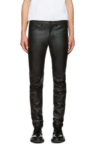 Comme des Garçons Homme Plus - Black Faux-Leather Trousers