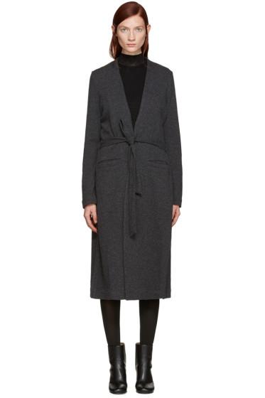 BLK DNM - Grey Wool Knit Cardigan
