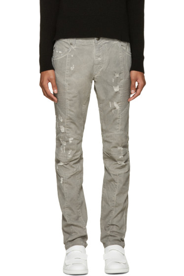 Pierre Balmain - Grey Biker Jeans