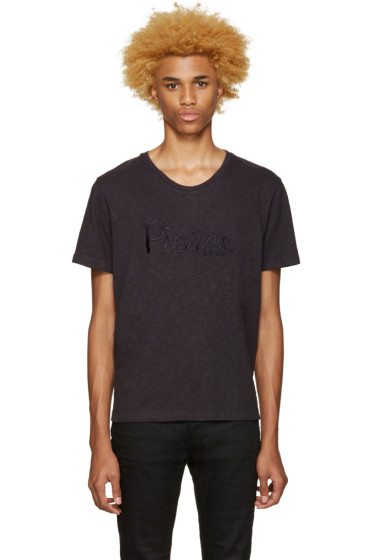 Pierre Balmain - Navy Embroidered Logo T-Shirt