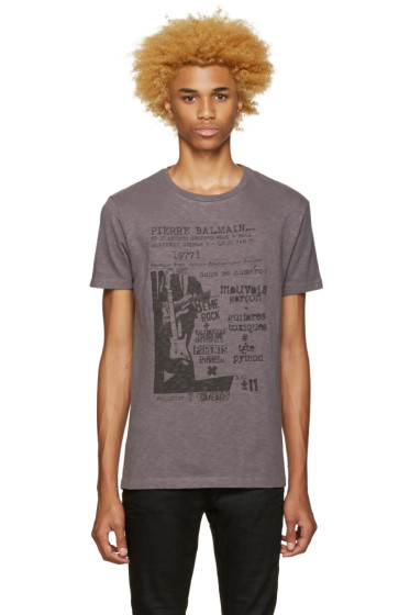 Pierre Balmain - Grey Graphic T-Shirt