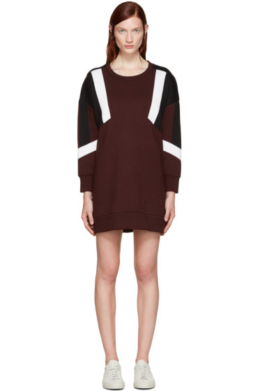 Neil Barrett - Burgundy Oversized Modernist Dress