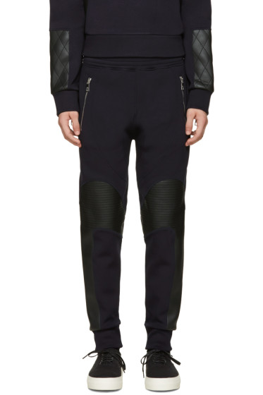 Neil Barrett - Navy Quilted Biker Lounge Pants
