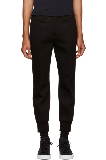 Neil Barrett - Black Bonded Jersey Trousers