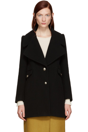 See by Chloé - Black Double-Breasted Coat