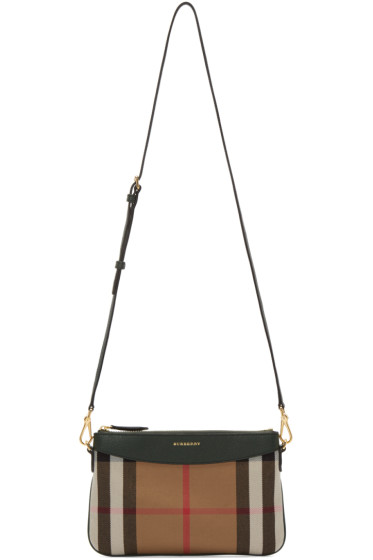 Burberry - Green House Check Shoulder Bag