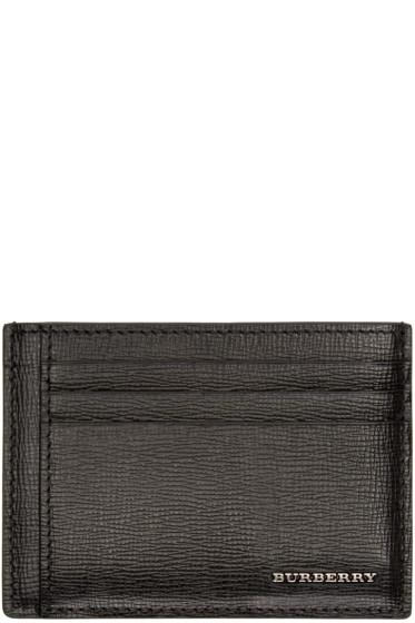 Burberry - Black Leather Logo Card Holder