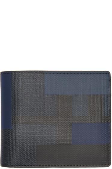 Burberry - Black & Blue Geometric Wallet