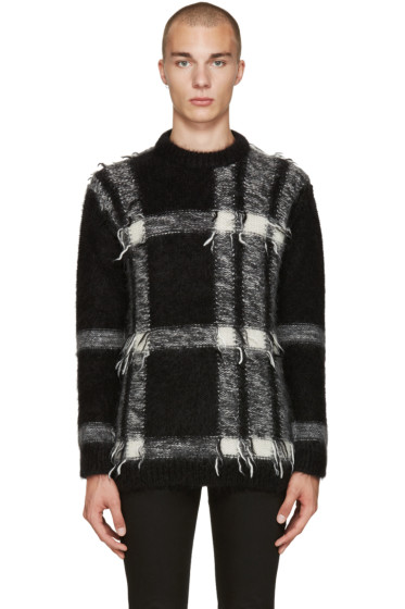 Burberry - Black Mohair Check Sweater