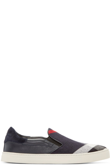 Burberry - Indigo Copford Slip-On Sneakers