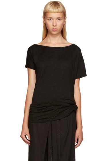 Ann Demeulemeester - Black Wool T-Shirt
