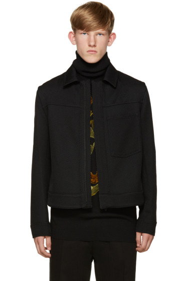 Ann Demeulemeester - Black Ribbed Twill Jacket