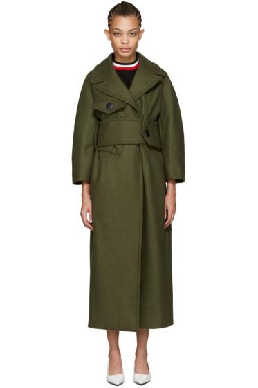 Marni - Green Wool Military Coat