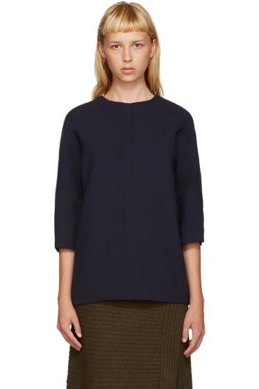 Marni - Navy Wool Blouse