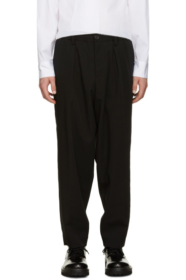 Marni - Black Wool Drawstring Trousers