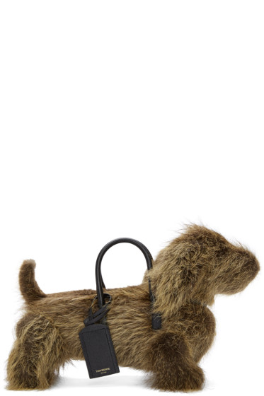 Thom Browne - Brown Fur Hector Bag