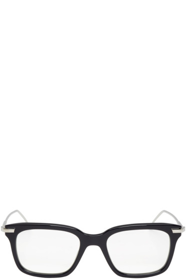 Thom Browne - Navy & Silver TB-701 Glasses
